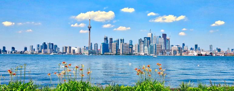 Summer City Skyline, Toronto, Canada